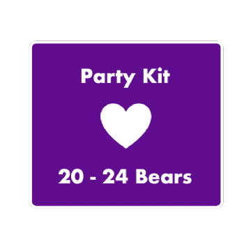 "8"" Bear Party Kit for 20 Children"